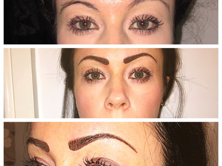 What are powder shaded semi permanent eyebrows?