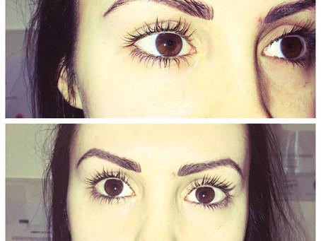 Fresh semi permanent makeup brows