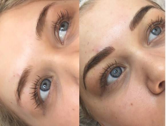 Powder shaded brows (includes top up).