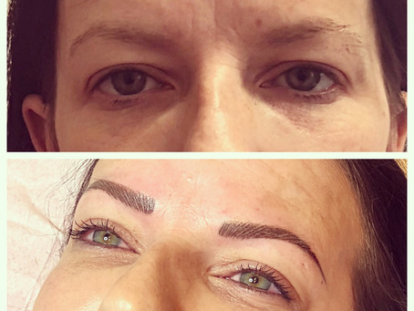 What a transformation! Classic hairstroke brows for my client here, creating a great frame for her g