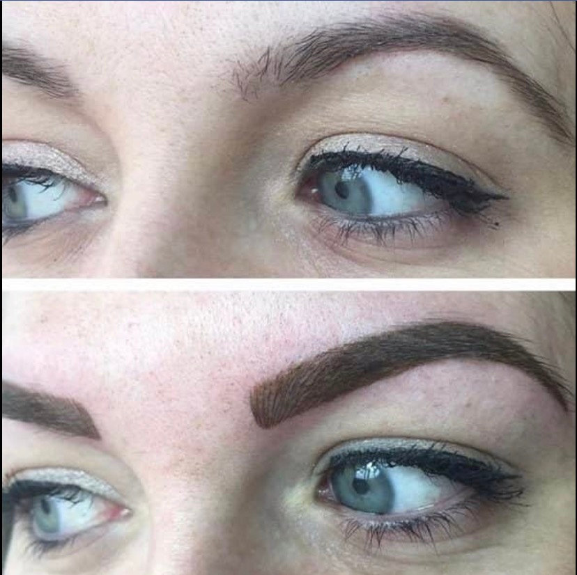 Block shaded brows (includes top up).