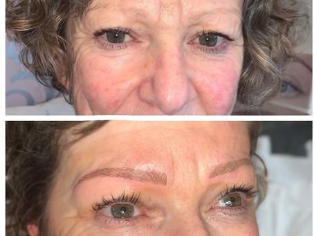 Hair stroke or brush stroke eyebrows...