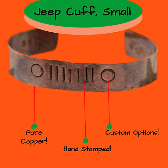 Jeep Bracelet, Copper, Small, Unisex