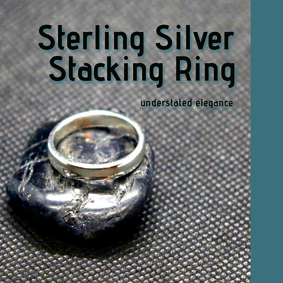 Woman's High-Domed Stacker Ring