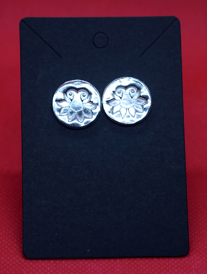 """Sterling Silver Tulip """"Coin"""" Earrings (post)"""