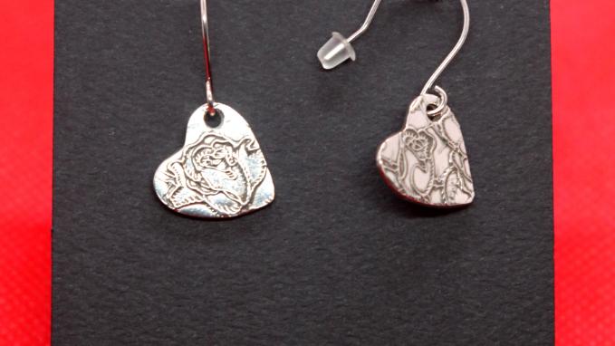 "Sterling Silver ""Thorny Rose"" Earrings"