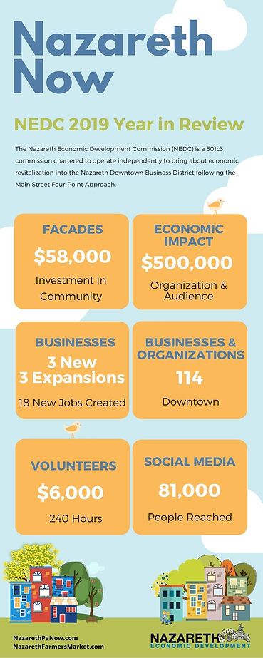 NEDC Annual Review Report Infographic