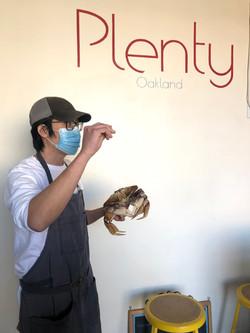 Put the crab down, man!