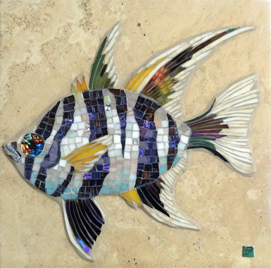 Old Wife Fish Mosaic