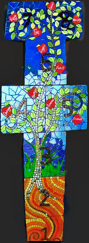 MLC Hopscotch mosaic