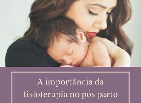A importância da fisioterapia no pós parto.