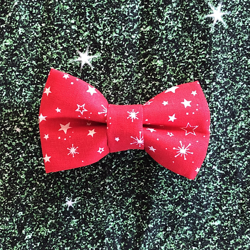 Red Stars Bow Tie