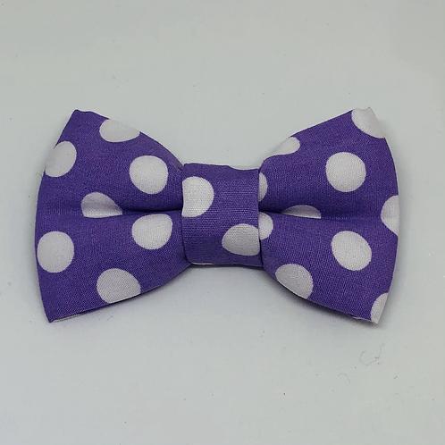 Lavender & White Bow Tie