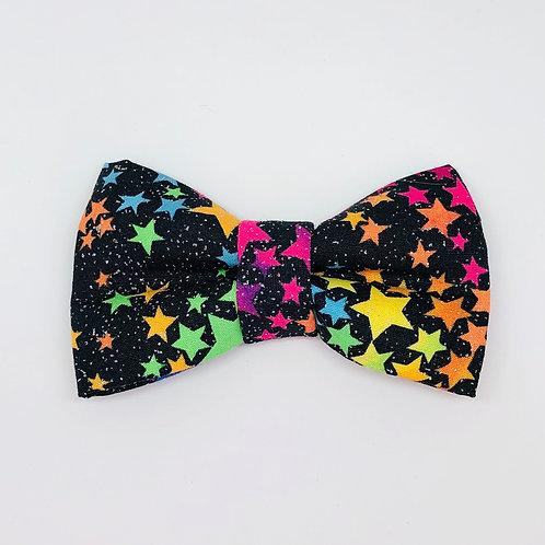 Black Stars & Glitter Bow Tie