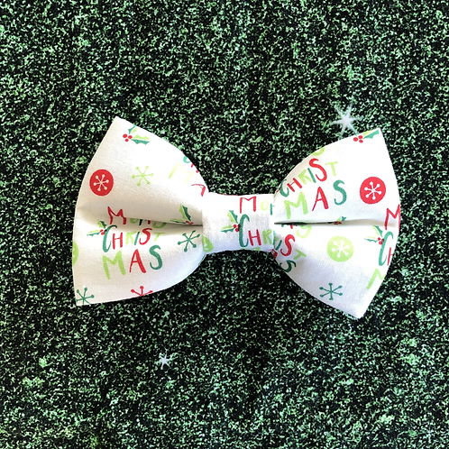 Merry Christmas Bow Tie