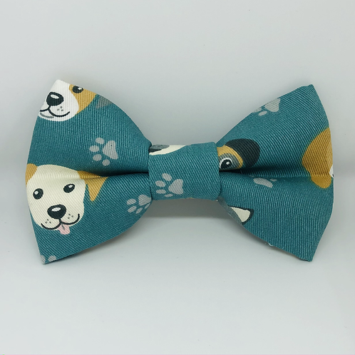Doggy Faces Bow Tie