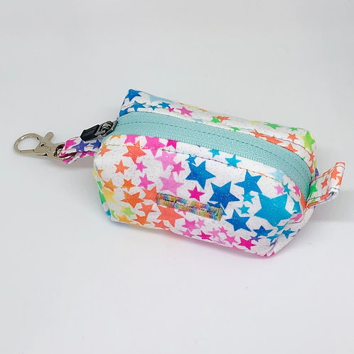 White Glitter & Stars Waste Bag Holder