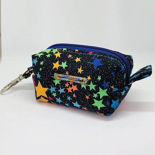 Black Glitter & Stars Waste Bag Holder