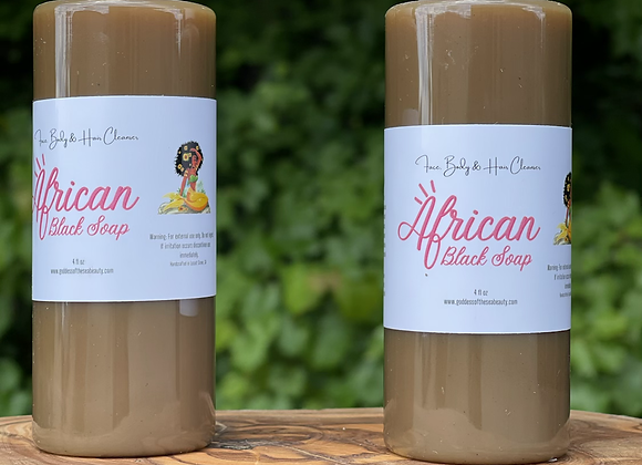 African Black Soap Face & Body Wash