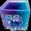 Thumbnail: Turquoise & Lavender Crystal Geode Resin Planter Pot