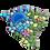 "Thumbnail: Mosaic Big Island of Hawaii 10"" Inches"
