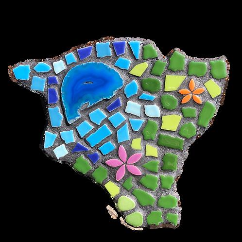 """Mosaic Big Island of Hawaii 10"""" Inches"""