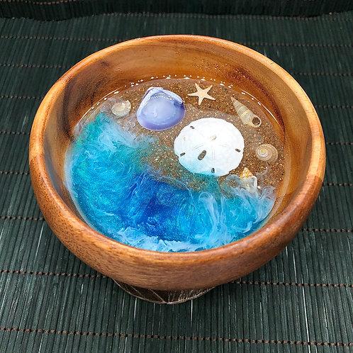 Waikiki Beach Acacia Wood Bowl~ Trinket Jewelry Dish
