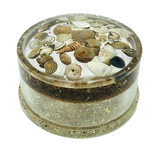 Sea Shells By The Sea Shore Trinket Box With Lid