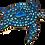 "Thumbnail: Mosaic Glass Honu Sea Turtle & Agate Stone Slice - Large 12"" Inch"