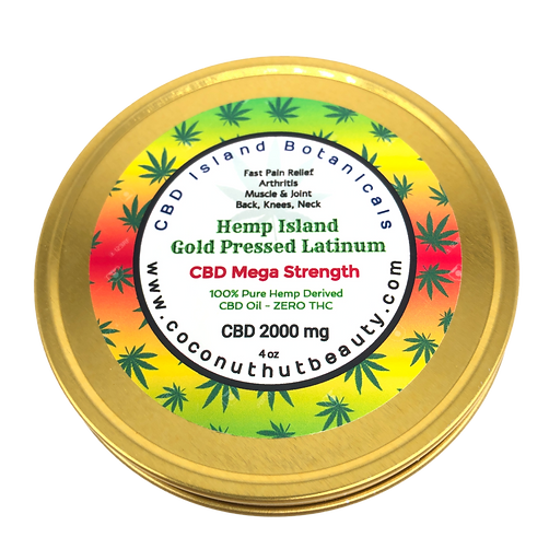 Gold Pressed Latinum CBD 2000mg Mega Strength Topical