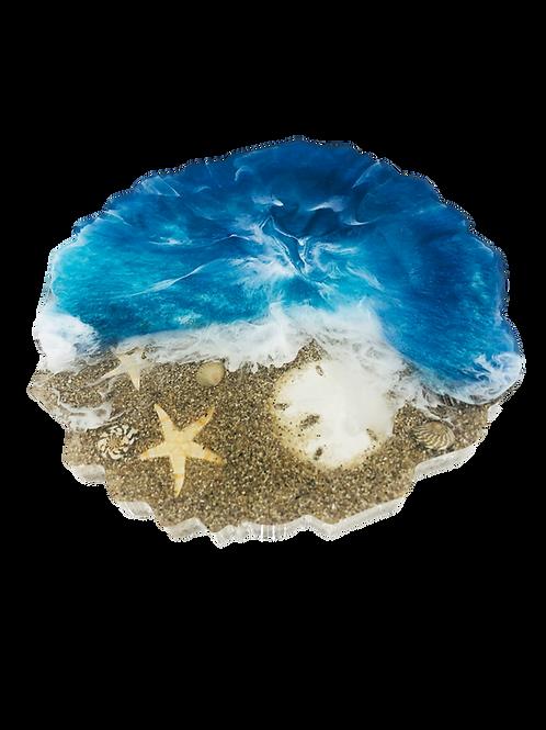 Fantasy Island Beach Geode Coaster Tray