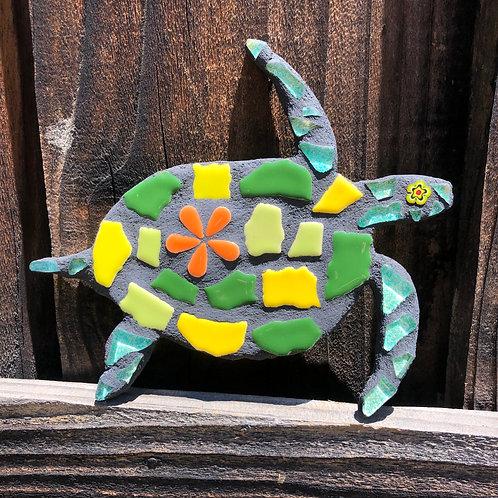 "Mosaic Honu Sea Turtle -  7"" Inches"