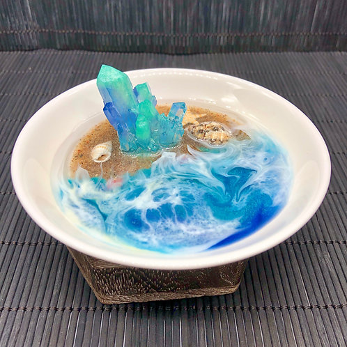 Crystals Rising From The Sea ~ Jewelry Trinket Ring Dish