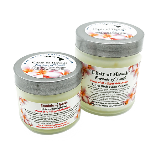 Elixir of Hawaii ~ Fountain of Youth Anti-Aging Face Cream