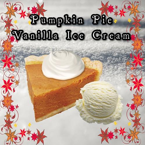 Pumpkin Pie Vanilla Ice Cream ~ Holiday Limited Edition