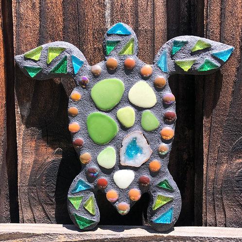 "Mosaic Honu SeaTurtle & Druzy Crystal 8"" Inches"