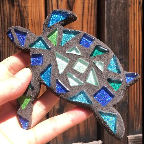 "Mosaic Glass 5"" Inch Baby Honu Sea Turtle"