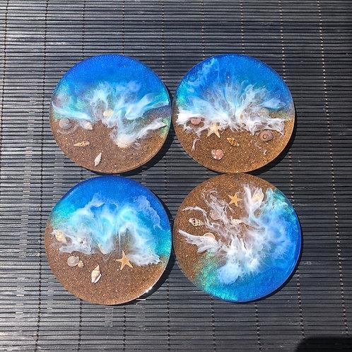 Ocean Beach 4 Piece Coaster Set
