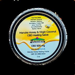 Manuka Honey & Virgin Coconut - CBD Healing Salve