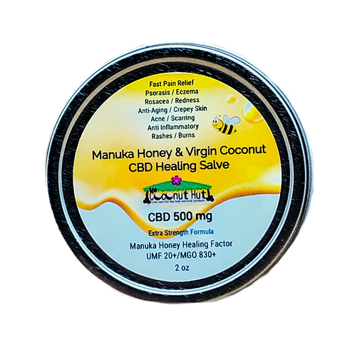 Manuka Honey & Virgin Coconut - CBD Healing Salve