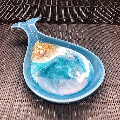 Ocean Whale Ceramic Spoon Rest