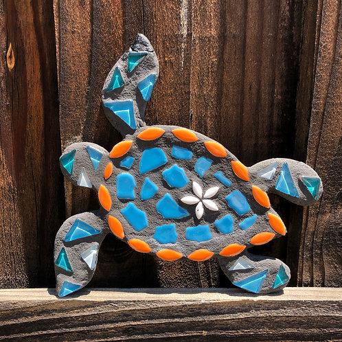 "Mosaic Honu Sea Turtle -  8"" Inches"