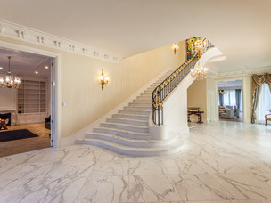 Luxury home stairway