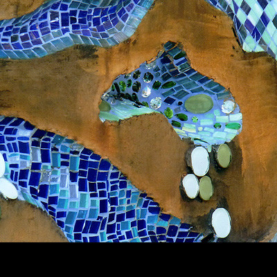 Feature wall glass tile Mosaic