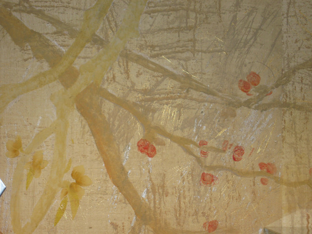 Detail, blossom decorative mural