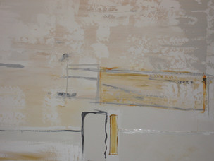 Detail; plaster and artist acrylics