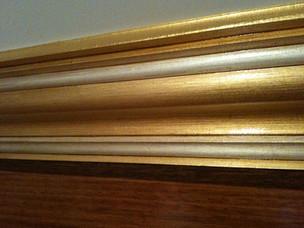 Luxury home cornice detail