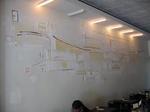 minimalsit wall mural