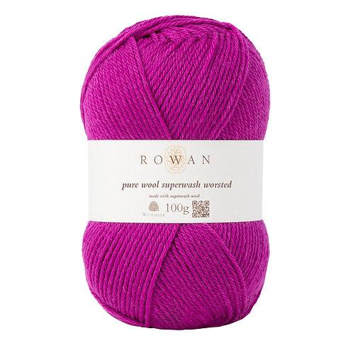 Pure Wool Superwash Worsted Magenta 119