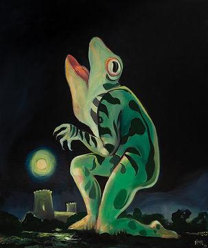 homme, grenouille, loup, nuit, lune, peinture.jpg